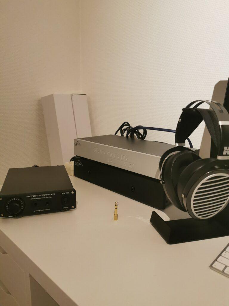 Ideon Stack + Violectric hovedtelefonforstærker og Hifiman Ananda